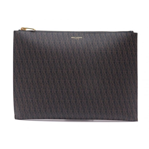 NEUF SAC POCHETTE SAINT LAURENT ETUI PR TABLETTE ZIPPE 420273 TOILE CLUTCH 495€