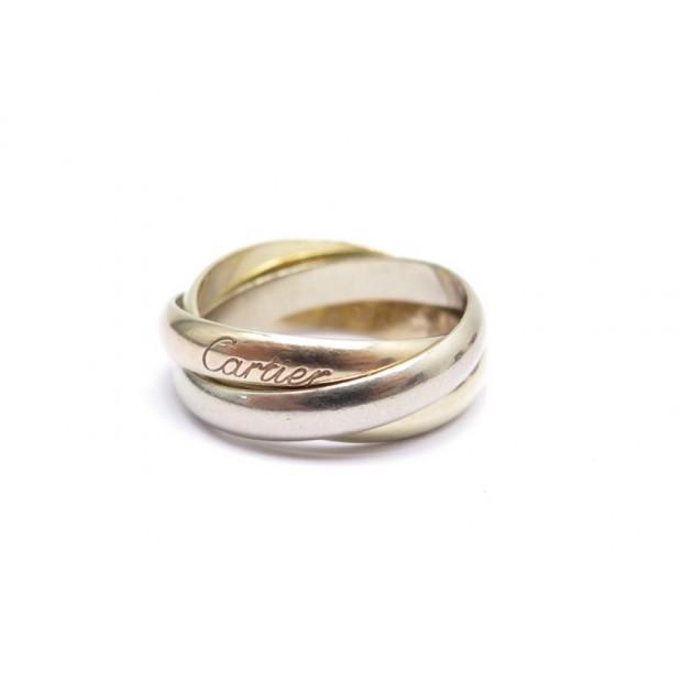 BAGUE CARTIER TRINITY CLASSIQUE B4052754 54 3 ANNEAUX ORS BOITE GOLD RING 1290€