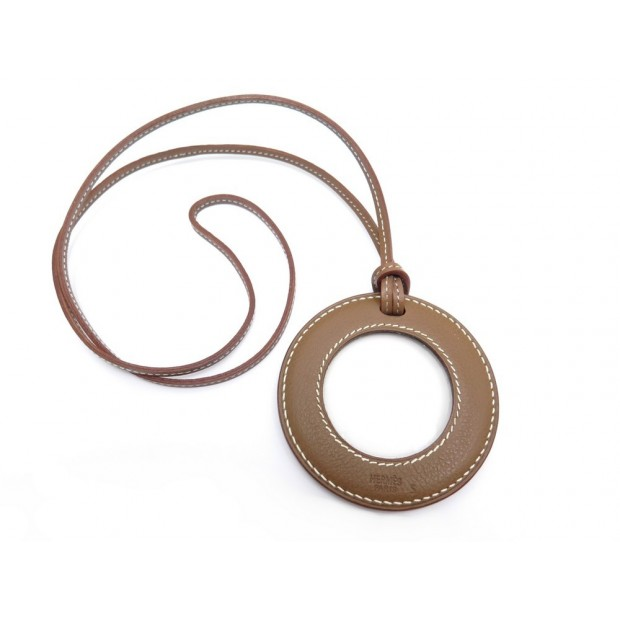 NEUF LOUPE HERMES IN THE POCKET EN CUIR VEAU GRAS MARRON MAGNIFYING GLASS 585€