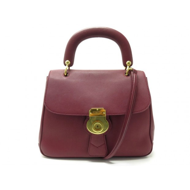 SAC A MAIN BURBERRY DK88 BANDOULIERE EN CUIR ROUGE RED LEATHER HAND BAG 1750€