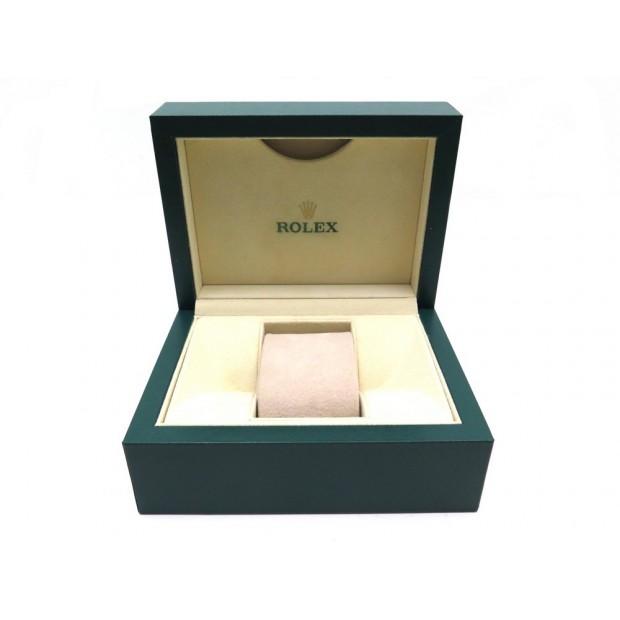 BOITE ROLEX POUR MONTRE DATEJUST OYSTER SUBMARINER 39137.01 CUIR VERT WATCH BOX