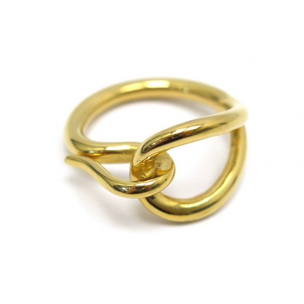 ANNEAU DE FOULARD HERMES JUMBO EN METAL DORE GOLDEN SCARF RING 165€