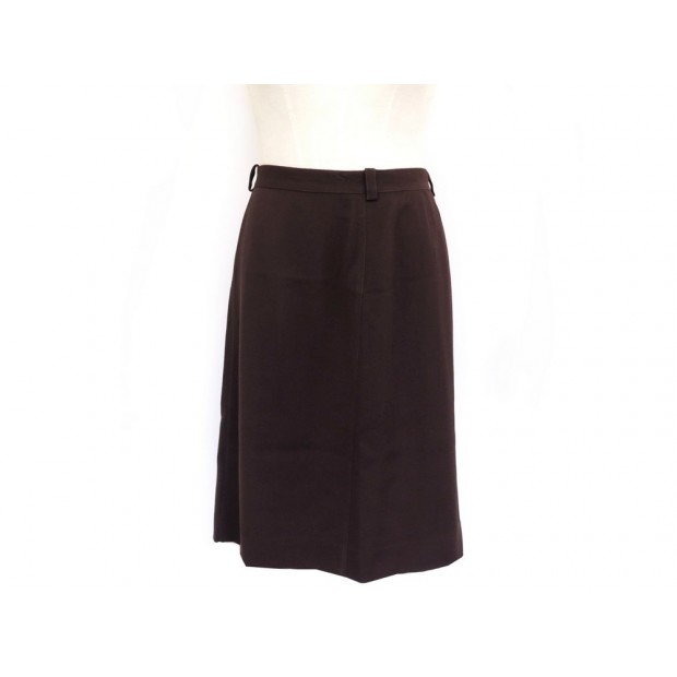 NEUF JUPE CHANEL P08071 TAILLE 40 M EN LAINE MARRON NEW BROWN WOOL SKIRT 1000€
