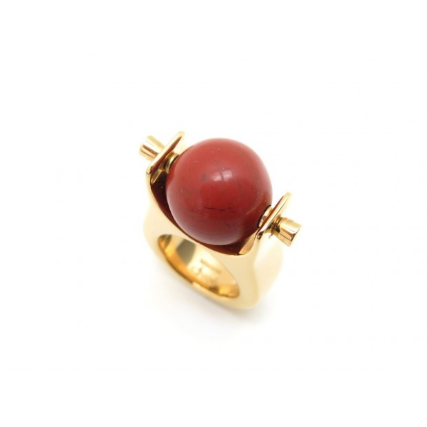 NEUF BAGUE CHLOE POTTERY 2R0521 52 LAITON DORE & PIERRE MINERALE BOITE RING 220€