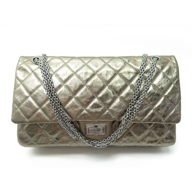 SAC A MAIN CHANEL 2.55 JUMBO BRONZE