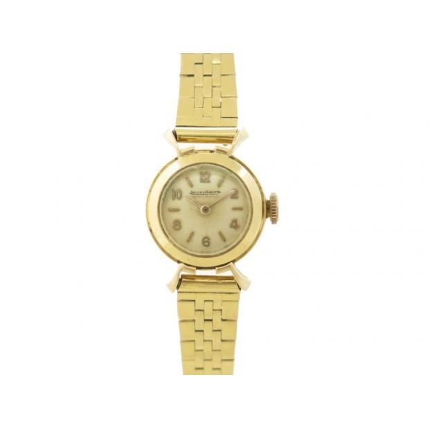 VINTAGE MONTRE JAEGER LECOULTRE LADY MECANIQUE 18 MM OR JAUNE 18K GOLD WATCH