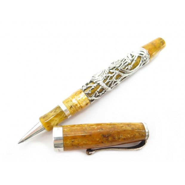 STYLO BILLE MONTEGRAPPA TIGRE 1912 ED LIMITTEE ROLLERBALL ARGENT BALLPOINT PEN