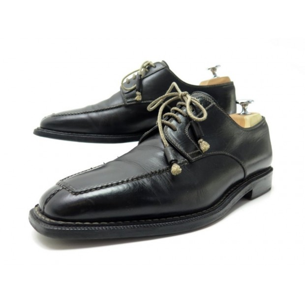 CHAUSSURES STEFANOBI DERBY 10.5 44.5 EN CUIR NOIR BLACK LEATHER SHOES 850€