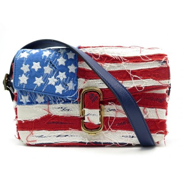 NEUF SAC A MAIN MARC JACOBS USA AMERICAN FLAG DENIM BANDOULIERE HAND BAG 1690€