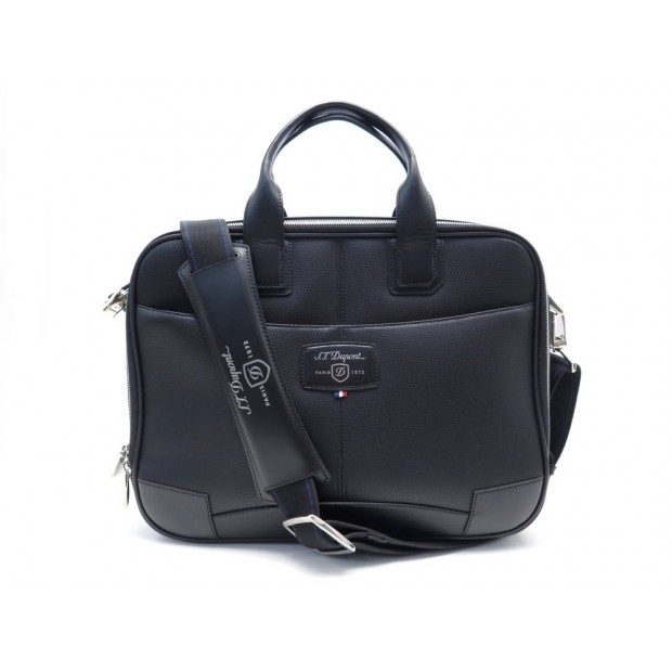 NEUF SACOCHE ST DUPONT PORTE DOCUMENTS S 171402 BANDOULIERE EN CUIR PERFORE 660€
