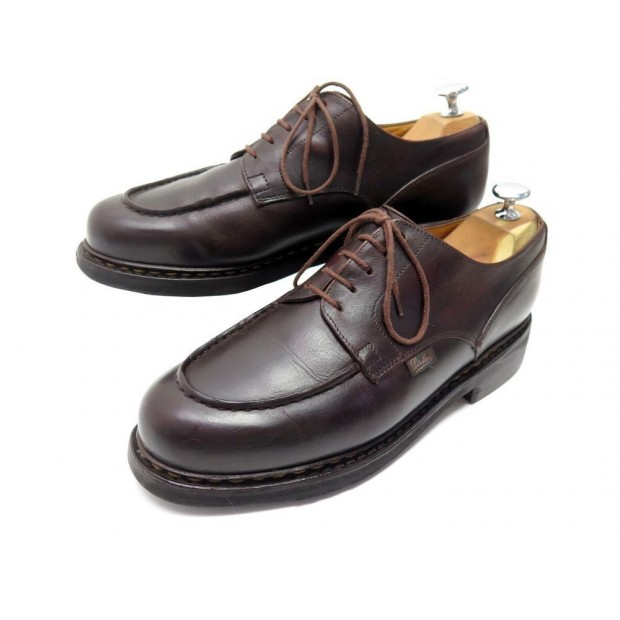 CHAUSSURES PARABOOT CHAMBORD 7F 41 DERBY CUIR BORDEAUX LEATHER SHOES 380€