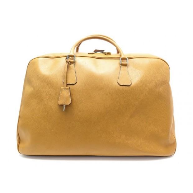 SAC A MAIN DE VOYAGE PRADA CUIR GRAINE CAMEL GOLD 51 CM LEATHER TRAVEL BAG 3100€