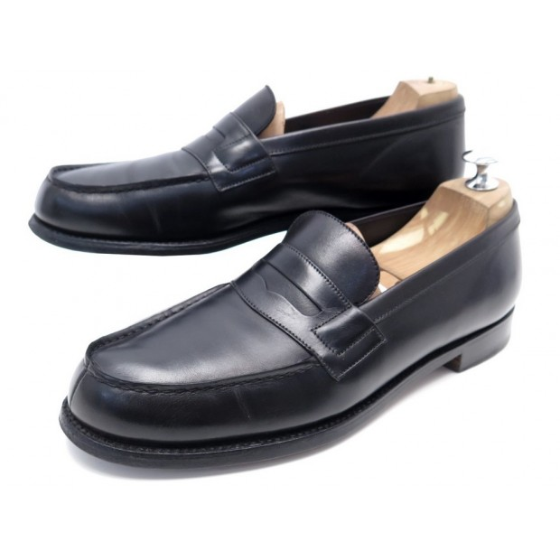 CHAUSSURES JM WESTON 180 6.5C 40.5 MOCASSINS EN CUIR NOIR LEATHER LOAFERS 620€
