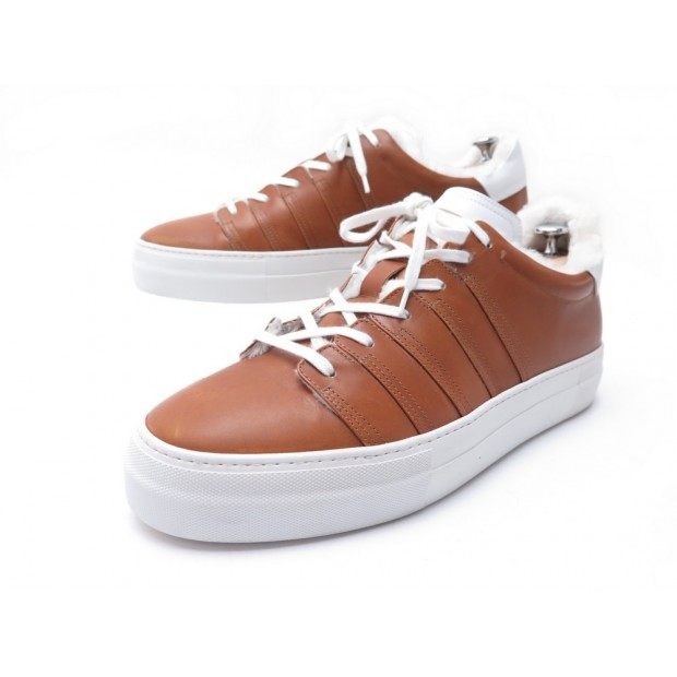 CHAUSSURES CORTHAY BASKETS 90 EVOLUTION FOURREES 10 44 CUIR MARRON SNEAKERS 750€