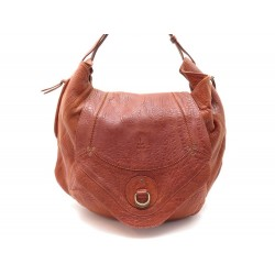 SAC A MAIN DREYFUSS CABAS BOB CUIR MARRON