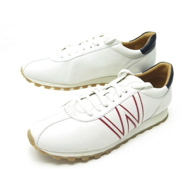 CHAUSSURES JM WESTON ON MY WAY 626 9.5 43.5 BASKETS EN CUIR BLANC SNEAKERS 490€
