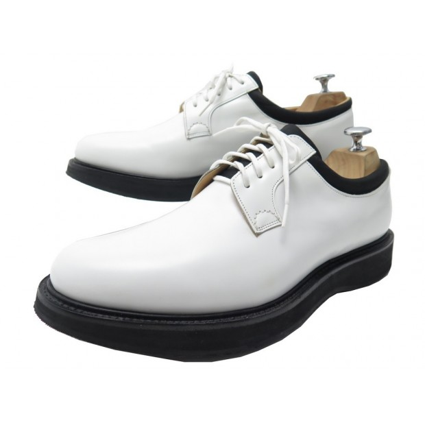NEUF CHAUSSURES CHURCH'S DERBY BRANDON 8.5F 42.5 CUIR BLANC LEATHER SHOES 495€