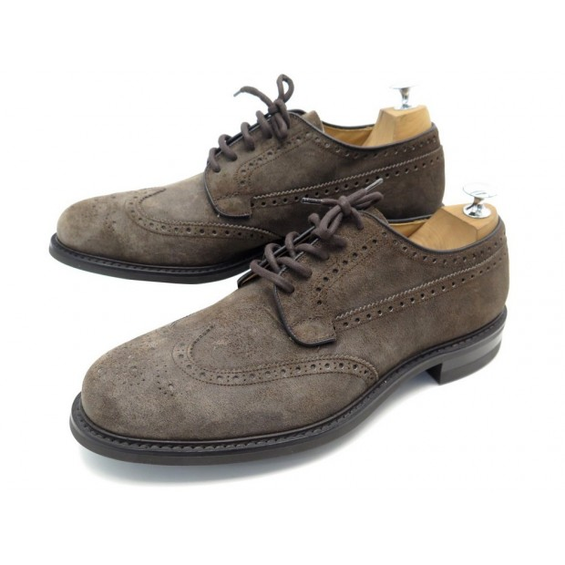 NEUF CHAUSSURES CHURCH'S COTTERSTOCK 9.5G 43.5 DERBY BOUT FLEURI DAIM TAUPE 500€