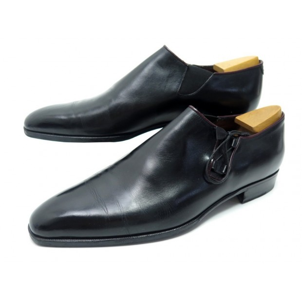 CHAUSSURES AUBERCY ONE CUT COMM SPECIALE 43.5 MOCASSINS CUIR EMBAUCHOIRS 2595€