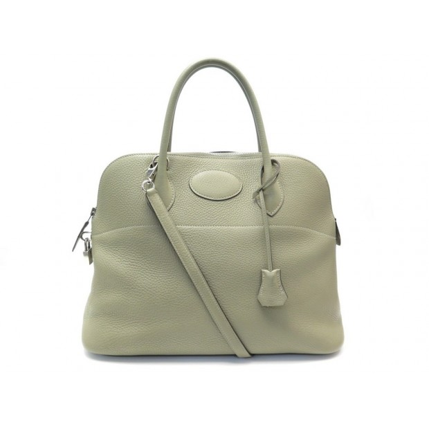 SAC A MAIN HERMES BOLIDE 35 CUIR CLEMENCE VERT PALE BANDOULIERE HAND BAG 6440€