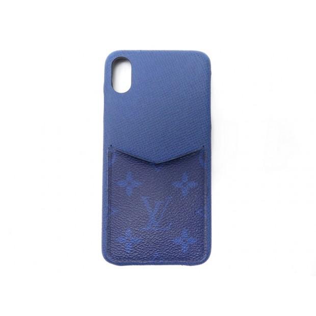 COQUE TELEPHONE LOUIS VUITTON IPHONE XS MAX M30273 TOILE MONOGRAM CUIR CASE 305€