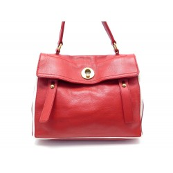 SAC A MAIN YVES SAINT LAURENT MUSE TWO 229680 CUIR ROUGE LEATHER HAND BAG 1795€