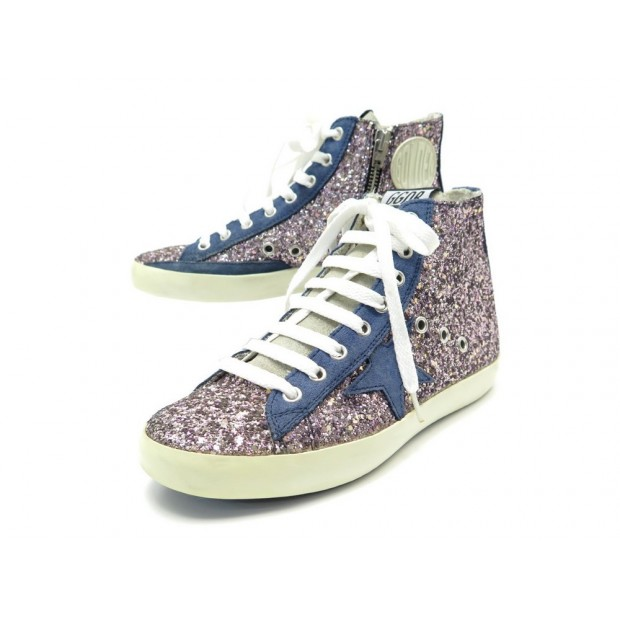NEUF CHAUSSURES GGDB GOLDEN GOOSE BASKETS FRANCY 36 PAILLETTES SNEAKERS 190€