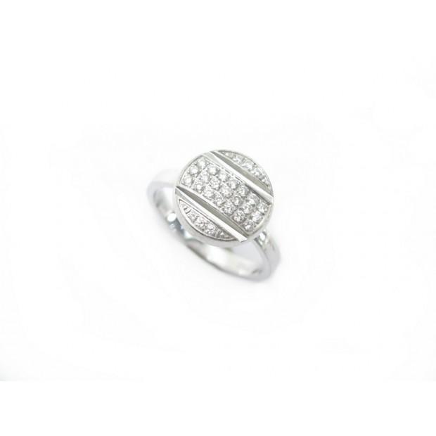BAGUE CHAUMET CLASS ONE CROISIERE T52 EN OR BLANC & DIAMANTS DIAMONDS RING 3520€