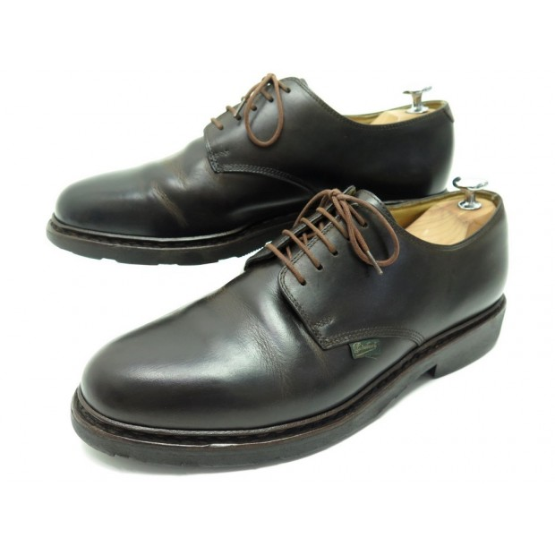 CHAUSSURES PARABOOT ARLES 7.5 41.5 DERBY EN CUIR MARRON BROWN LEATHER SHOES 355€