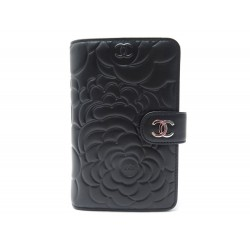 NEUF PORTEFEUILLE CHANEL CAMELIA CUIR