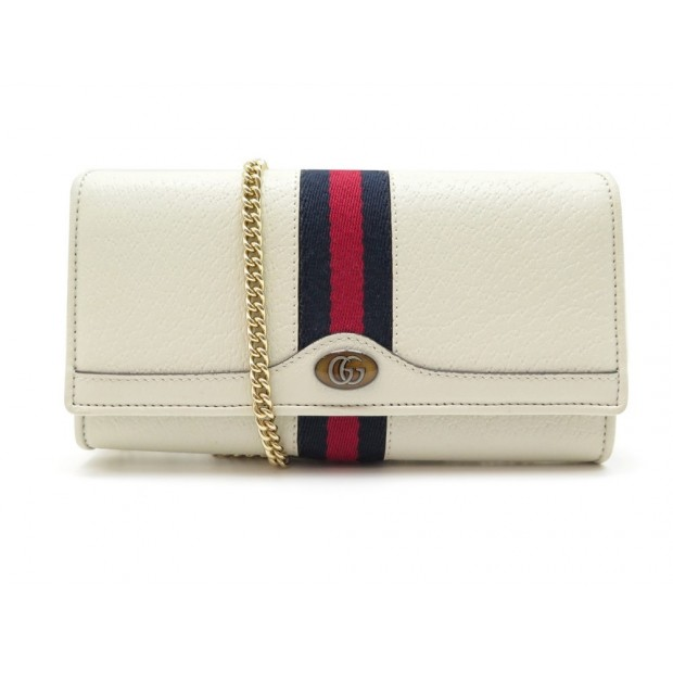 NEUF SAC A MAIN GUCCI OPHIDIA WALLET ON CHAIN 546592 BANDOULIERE WOC BEIGE 830€