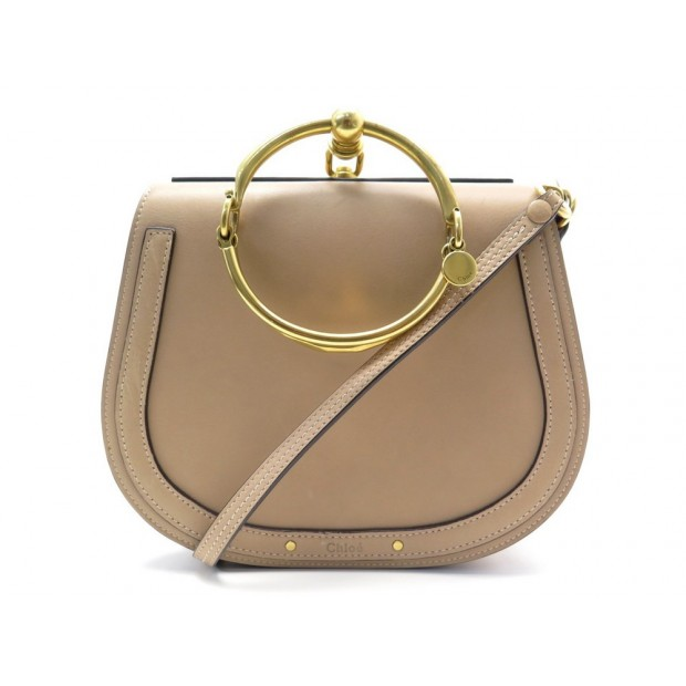 SAC A MAIN CHLOE NILE EN CUIR TAUPE BANDOULIERE LEATHER HAND BAG PURSE 1655€