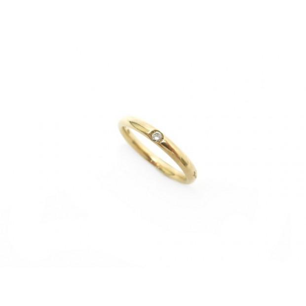 BAGUE POMELLATO LUCCIOLE 50 EN OR JAUNE 18K ET DIAMANT GOLD DIAMOND RING 600€