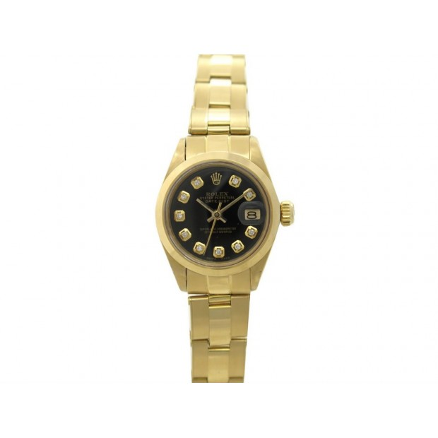 VINTAGE MONTRE ROLEX 6916 OYSTER PERPETUAL DATEJUST LADY OR & DIAMANTS 20800€