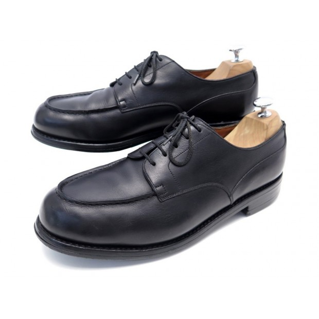 CHAUSSURES JM WESTON 641 9E 43 DERBY GOLF EN CUIR NOIR BLACK LEATHER SHOES 710€