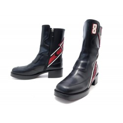 CHAUSSURES CHRISTIAN DIOR DIORALLY BOTTES MOTARDES 37.5 LOW RIDING BOOTS 1490€