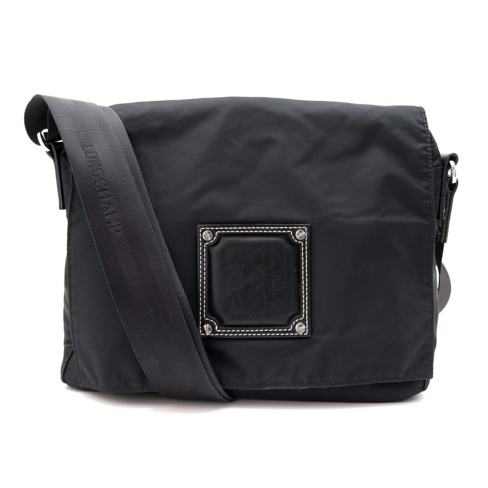 sac a main longchamp bandouliere en toile noir black