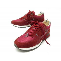 NEUF CHAUSSURES LOUIS VUITTON BASKETS RUNAWAY 9 43 TOILE SNEAKERS SHOES 750€