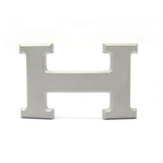 NEUF BOUCLE DE CEINTURE HERMES BOUCLE H 32MM METAL PLAQUE PVD MAT ARGENTE BUCKLE