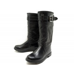 CHAUSSURES DOLCE & GABBANA 42 IT 43 FR BOTTES FOURREES MOTARD RIDING BOOTS 995€