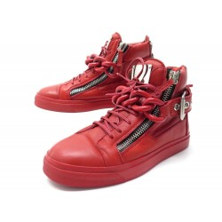 CHAUSSURES GIUSEPPE ZANOTTI 38 BASKETS EN CUIR ROUGE RED LEATHER SNEAKERS 795€