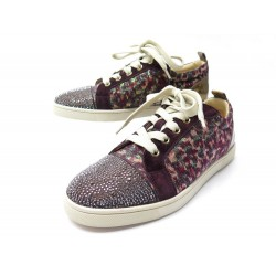 NEUF CHAUSSURES CHRISTIAN LOUBOUTIN BASKETS LOUIS JUNIOR 37.5 SNEAKERS 1195€