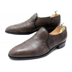 CHAUSSURES JOHN LOBB EDWARD 8.5 42.5 MOCASSINS CUIR TAUPE LEATHER LOAFERS 1675€