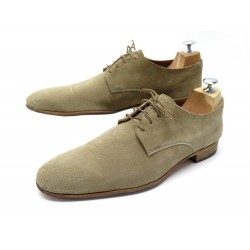 CHAUSSURES HESCHUNG NERIUM 8.5 42.5 DERBY EN DAIM BEIGE SUEDE LEATHER SHOES 265€