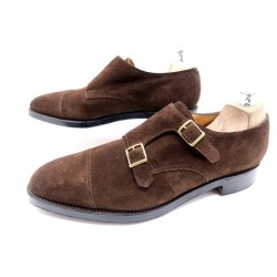 CHAUSSURES JOHN LOBB WILLIAM BI BOUCLE 10.5E 44.5 LARGE DAIM BUCKLE SHOES 1095€