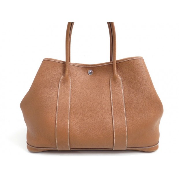 SAC A MAIN HERMES GARDEN PARTY CABAS 36CM EN CUIR TOGO GOLD HAND BAG PURSE 2360€