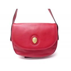 SAC A MAIN LANCEL BESACE EN CUIR GARINE ROUGE RED LEATHER HAND BAG PURSE 490€