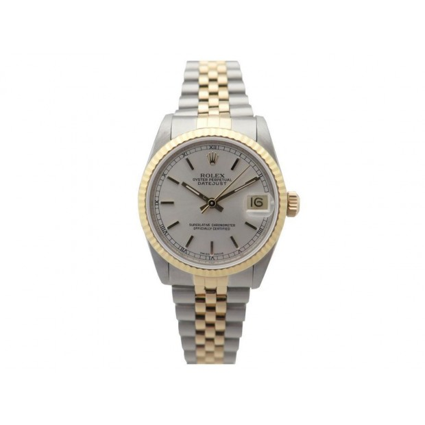 NEUF MONTRE ROLEX OYSTER PERPETUAL DATE JUST 68273 REVISEE OR ACIER WATCH 7110€