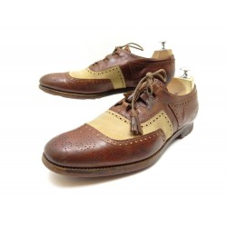 CHAUSSURES CHURCH'S SHANGHAI RICHELIEU 9 43 BOUT FLEURI CUIR MARRON SHOES 850€