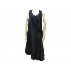 NEUF ROBE LOUIS VUITTON SANS MANCHE 42 L EN SOIE NOIR NEW BLACK SILK DRESS 3000€